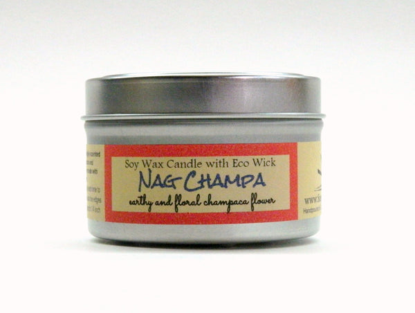 Nag Champa Scented Soy Wax Candle