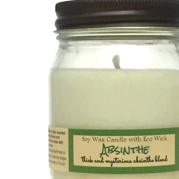 Absinthe Scented Soy Wax Candles