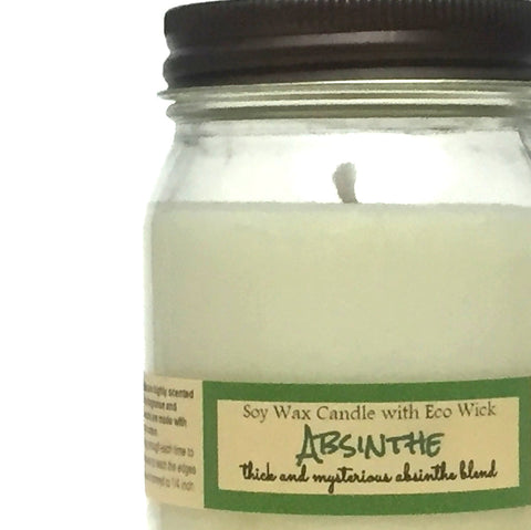 Absinthe Scented Soy Wax Candle