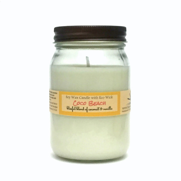 Coco Beach Scented Soy Wax Candle