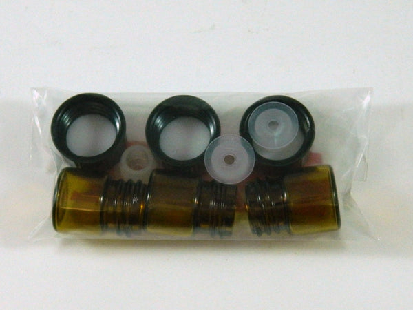 Pack of 3 - 1 ml Amber Bottle with Reducer and Cap