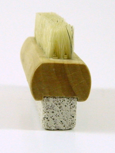 Wooden Pumice Stone and Brush