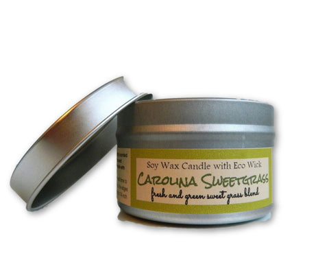 Carolina Sweet Grass Scented Soy Wax Candle
