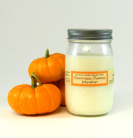 Traditional Pumpkin Scented Soy Candles and Tarts