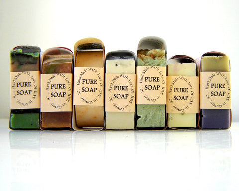 7 Bars of Handmade Soap - Leave Note at Checkout