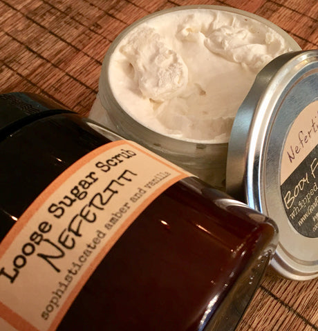 Sugar Scrub & Body Frosting Kit - Exfoliate and Moisturize /