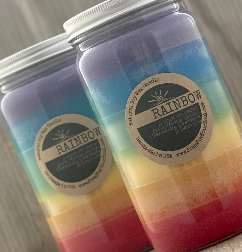 Rainbow Layer Soy Candle