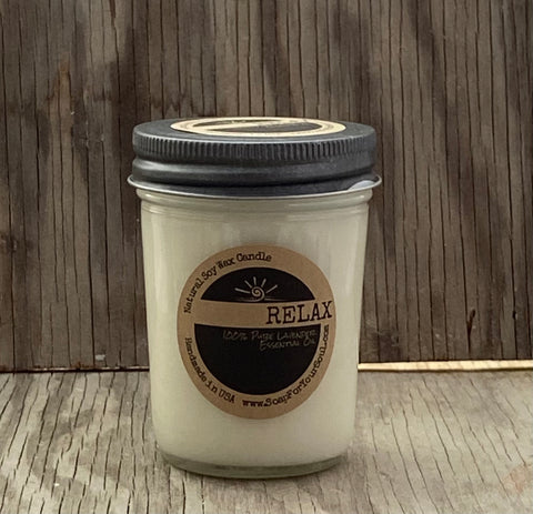 RELAX - Lavender Essential Oil - Aromatherapy Candle