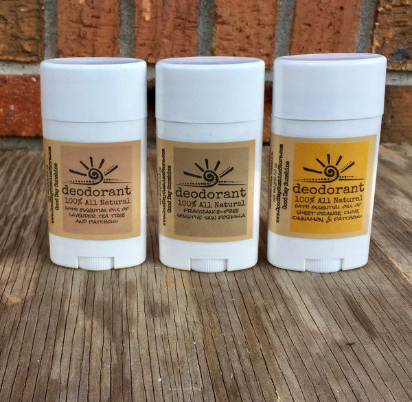 All Natural Deodorant - Fragrance Free, Lavender, or Tree of Life