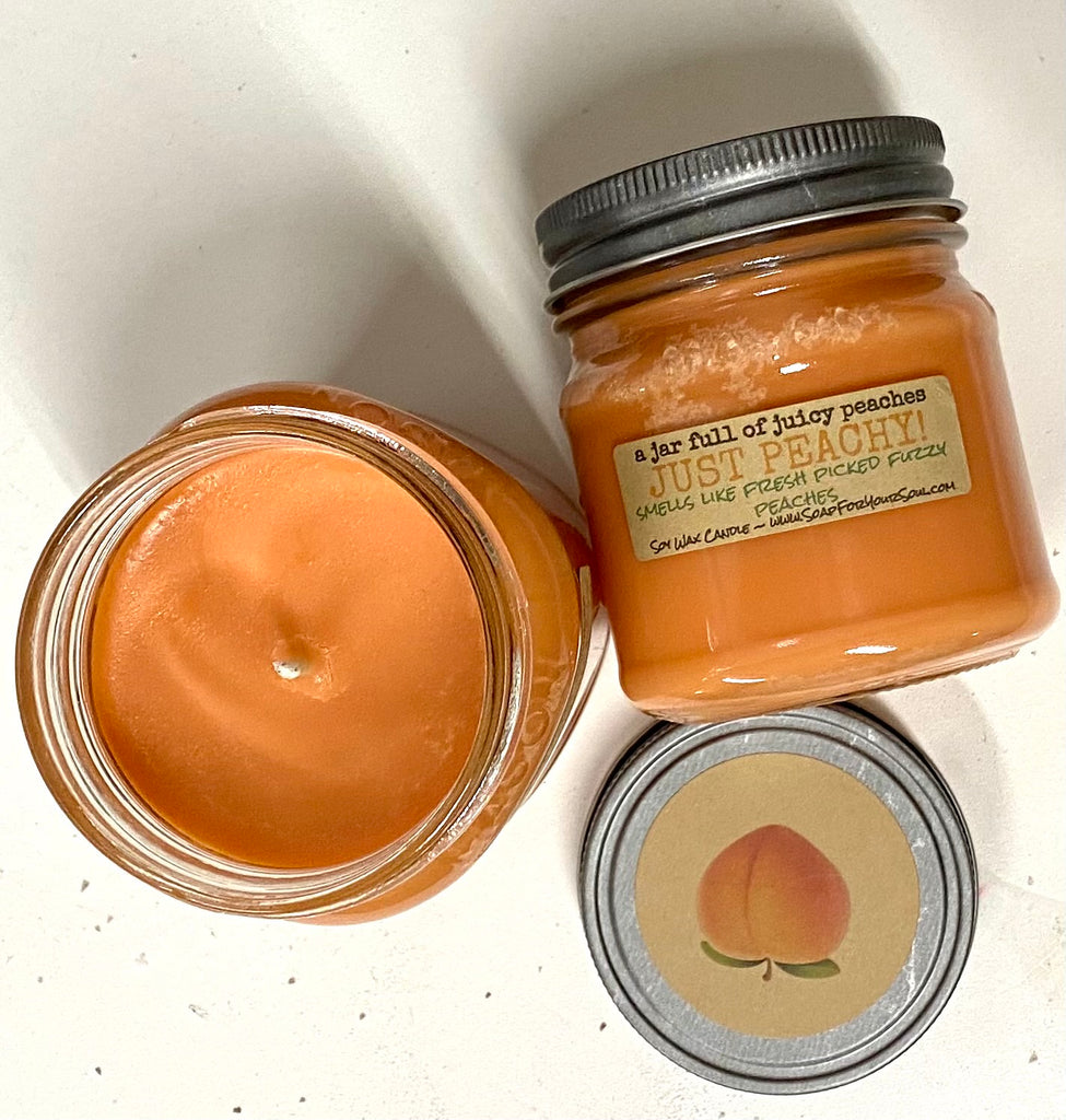 Just Peachy - Peach Scented Soy Candle