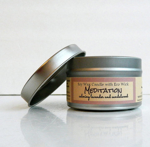 Meditation Scented Soy Wax Candle