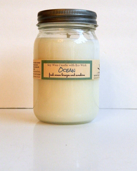 Ocean Scented Soy Wax Candle
