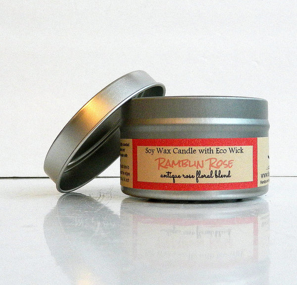 Ramblin Rose Scented Soy Wax Candle