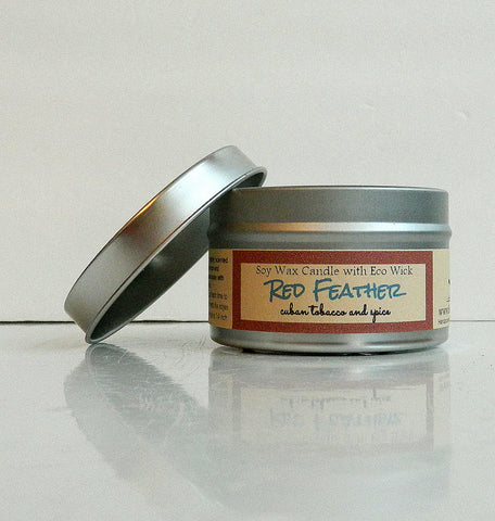 Red Feather Scented Soy Wax Candle