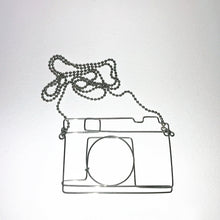 Load image into Gallery viewer, Wire Cam Necklace - phenotypsetter, fashion designer label, unisex, women, accessories