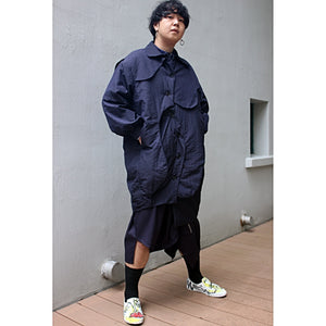 Long Coat Cocoon Elevated Panels with Padding - phenotypsetter, fashion designer label, unisex, women, accessories