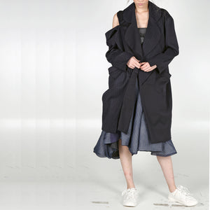 Long Coat Open Drop - phenotypsetter, fashion designer label, unisex, women, accessories