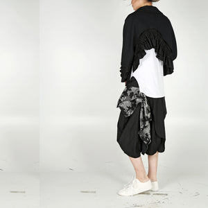 Jacket - Asymmetric Length with Ruffles - phenotypsetter, fashion designer label, unisex, women, accessories