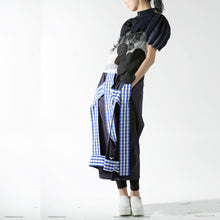 Load image into Gallery viewer, Cape - Ball Shaped Accordion on Sleeve - phenotypsetter, fashion designer label, unisex, women, accessories