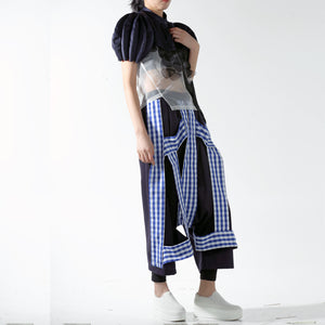 Cape - Ball Shaped Accordion on Sleeve - phenotypsetter, fashion designer label, unisex, women, accessories