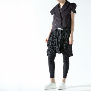 Jacket - Sleeveless with Circle Edge and Flakes - phenotypsetter, fashion designer label, unisex, women, accessories