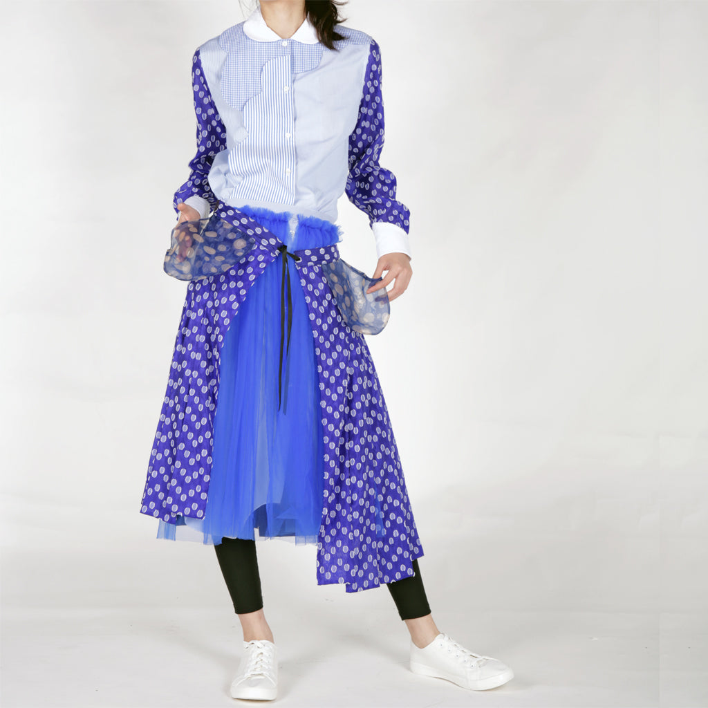 Skirts - Layers of Tapes, Mesh and Shirt - phenotypsetter, fashion designer label, unisex, women, accessories