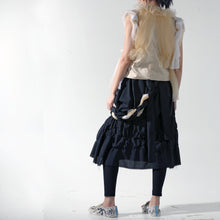 Load image into Gallery viewer, Skirt - Shirring A Line with Braided Suspender - phenotypsetter, fashion designer label, unisex, women, accessories