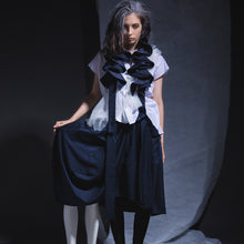 Load image into Gallery viewer, Skirts - Drop Cocoon with circular Ruffle Suspender - phenotypsetter, fashion designer label, unisex, women, accessories