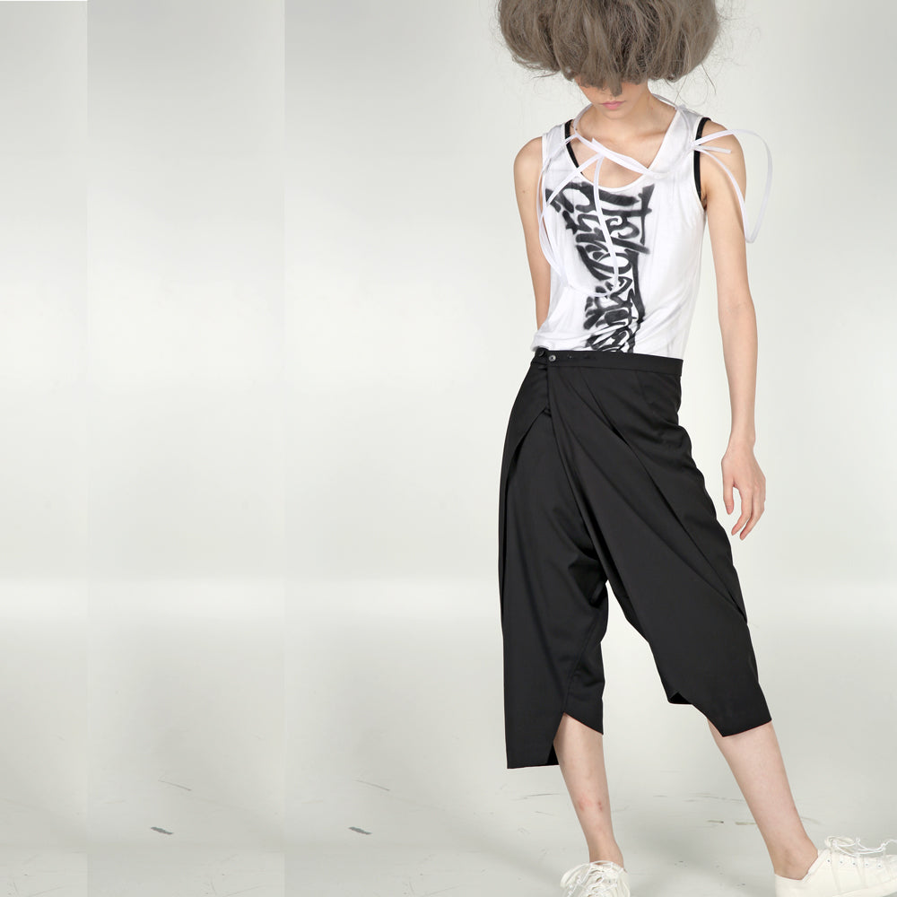 Trousers – Asymmetric Folding - phenotypsetter, fashion designer label, unisex, women, accessories