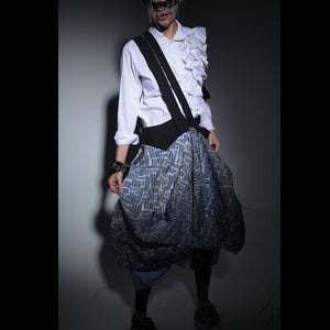 Skirts - Cocoon Two Layers & Suspenders - phenotypsetter, fashion designer label, unisex, women, accessories