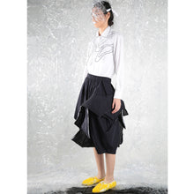 Load image into Gallery viewer, Skirt Asy Cut with Paddings - phenotypsetter, fashion designer label, unisex, women, accessories