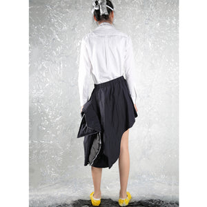 Skirt Asy Cut with Paddings - phenotypsetter, fashion designer label, unisex, women, accessories