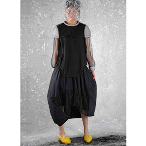 Padded Cape - BLACK - phenotypsetter, fashion designer label, unisex, women, accessories