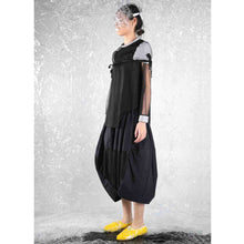 Load image into Gallery viewer, Mesh-sleeved Top with Padded Cape - phenotypsetter, fashion designer label, unisex, women, accessories