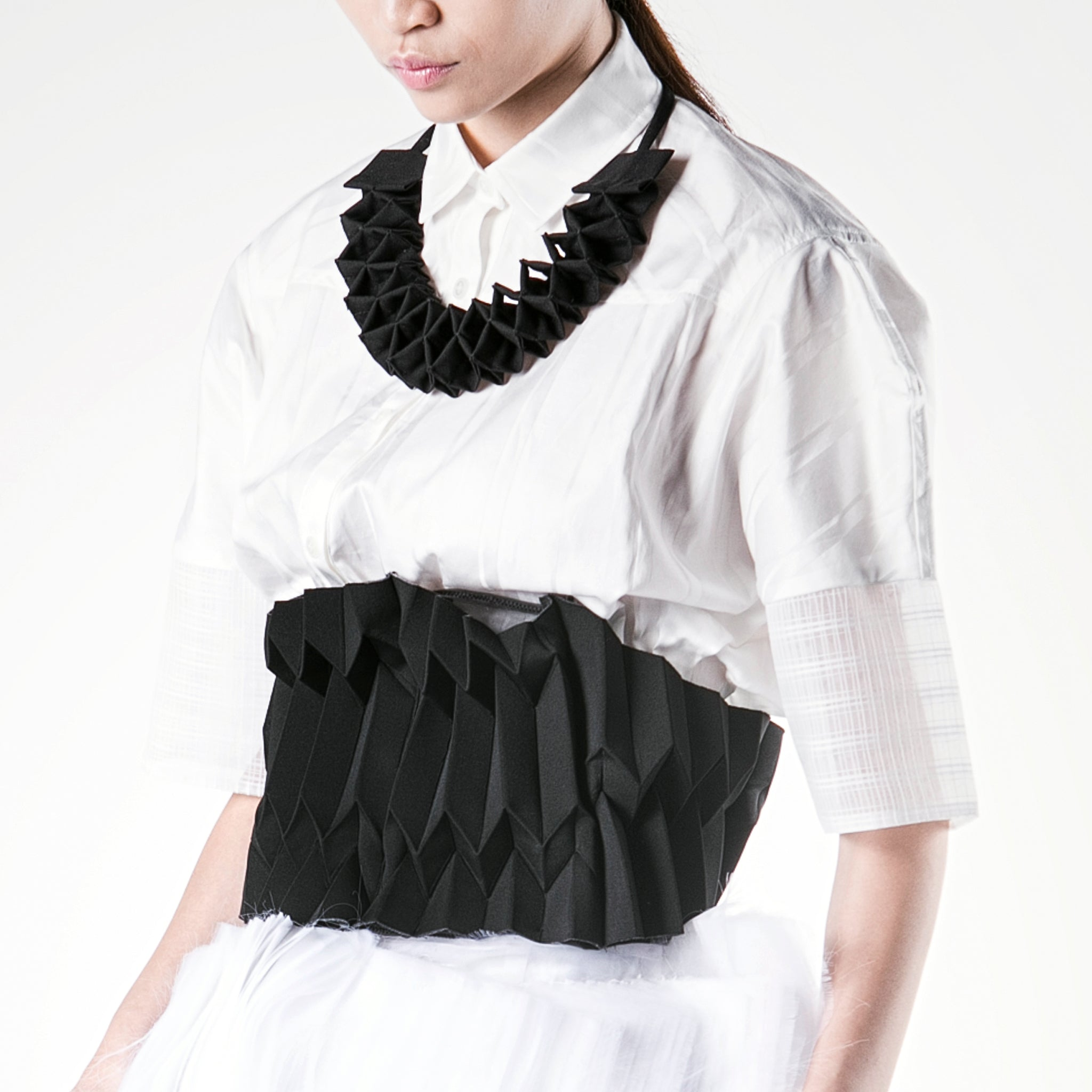 Smocking Collar Necklace - phenotypsetter, fashion designer label, unisex, women, accessories