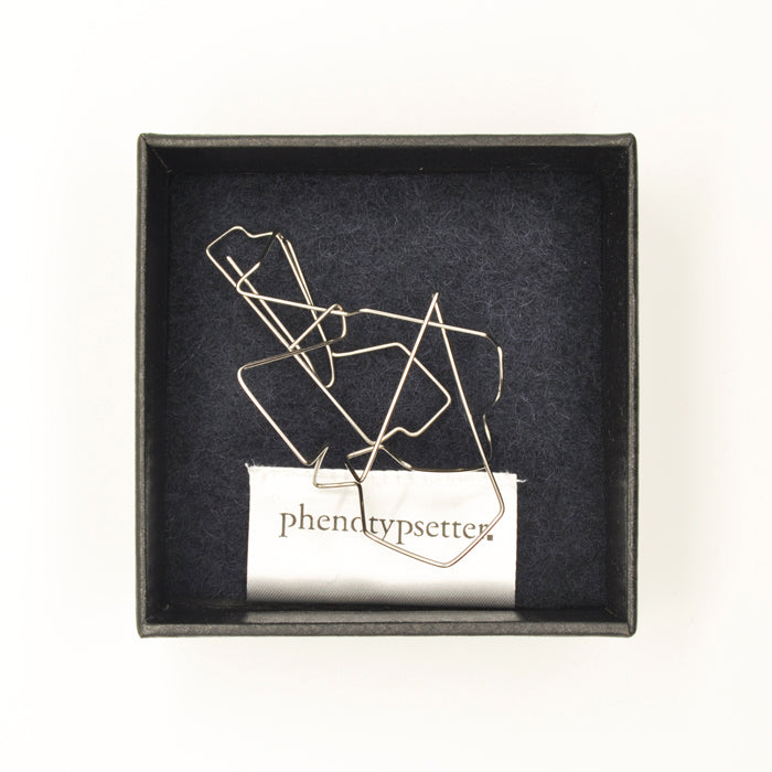 Wire Brooch Clip – Geometric - phenotypsetter, fashion designer label, unisex, women, accessories