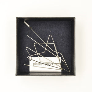 Wire Brooch Pin – Arrow - phenotypsetter, fashion designer label, unisex, women, accessories