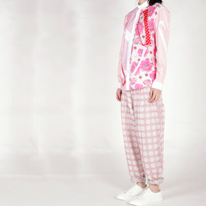 Shirt with Cutout and Patchwork Pink tone - phenotypsetter, fashion designer label, unisex, women, accessories