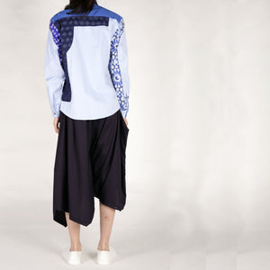 Shirts - Blue Patchwork - phenotypsetter, fashion designer label, unisex, women, accessories