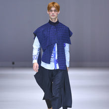 Load image into Gallery viewer, Shirts - Blue Patchwork - phenotypsetter, fashion designer label, unisex, women, accessories