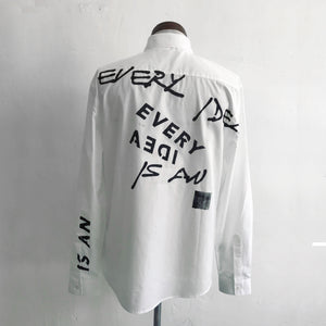 Shirt with Slogan Print