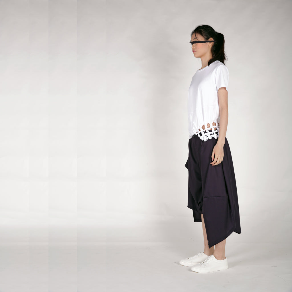 Tee - Knot Tee (sleeve/hem) - phenotypsetter, fashion designer label, unisex, women, accessories