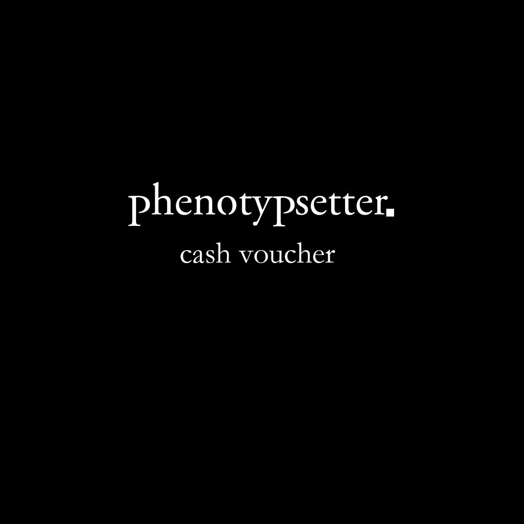 phenotypsetter Cash Voucher