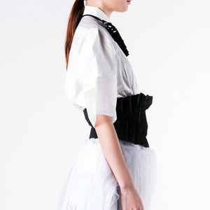 Blouse Wide Broad Short Sleeve - phenotypsetter, fashion designer label, unisex, women, accessories