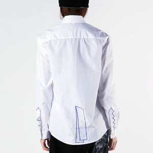 Shirt Embroidery Jacket on Organza - phenotypsetter, fashion designer label, unisex, women, accessories