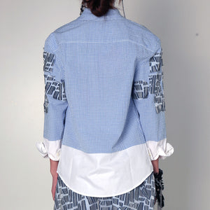 Shirt Geometry Flakes - phenotypsetter, fashion designer label, unisex, women, accessories
