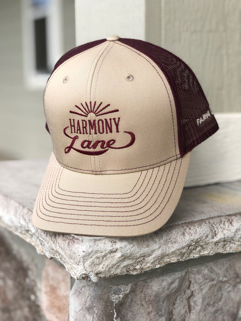 Tan/Maroon Mesh Richardson Hat