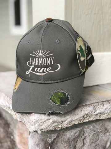 Gray Fitted Mossy Oak Hat