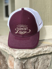Maroon/White Richardson Mesh Hat