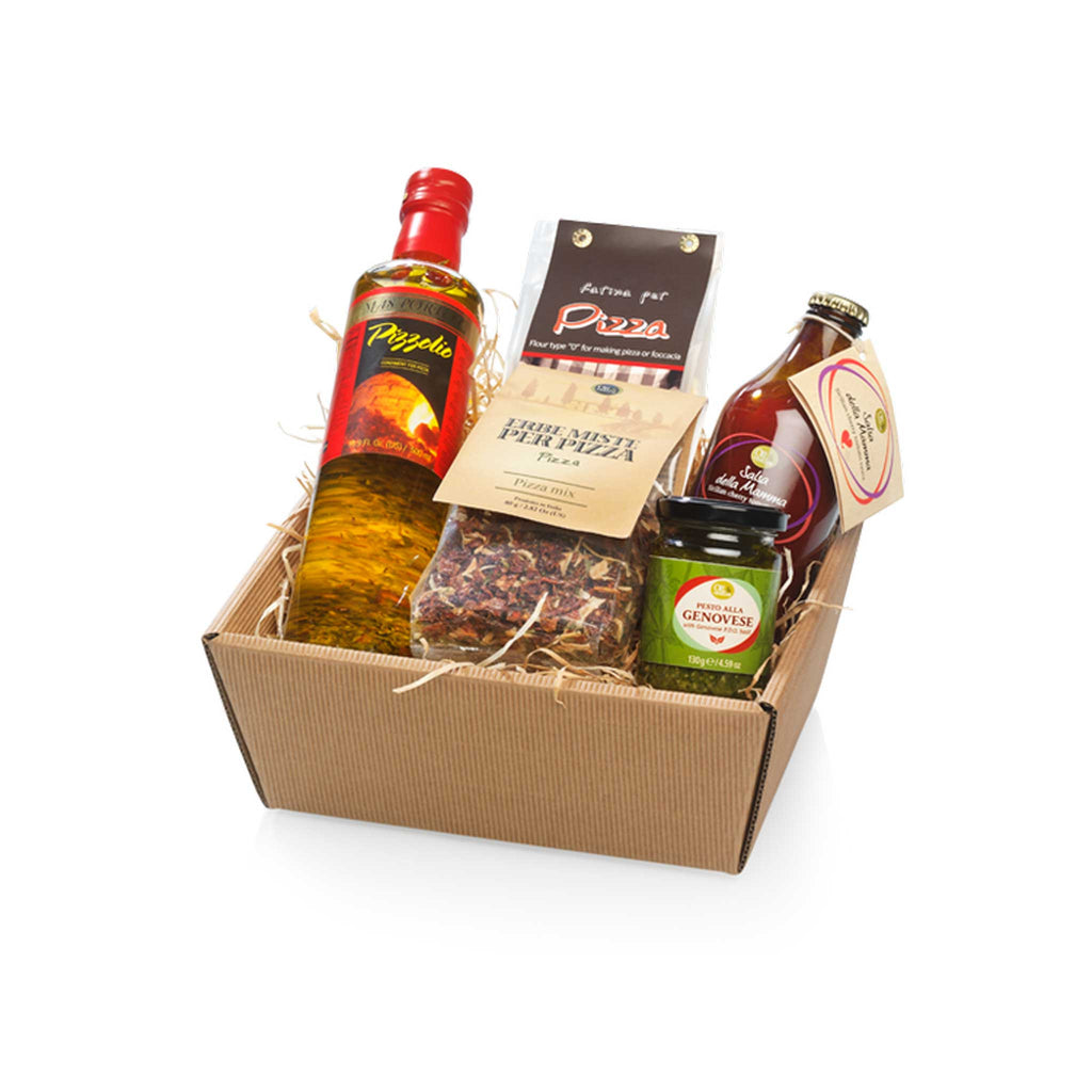Pizza Party Gift Set with Herbs Sauce and Gourmet Pizzolio Oil